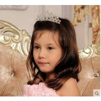 可爱甜美精致公主华丽水钻插梳韩国气质百搭儿童舞蹈演出皇冠儿童发饰头饰