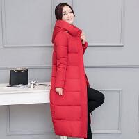 2018反季节冬季新款服女大码中长款过膝羽绒服加厚韩版外套