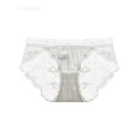 法式性感蕾丝镂空透明女士内裤低腰舒适透气三角裤