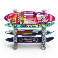 长板公路滑板四轮滑板车青少年男女生舞板滑板初学者 小鱼板