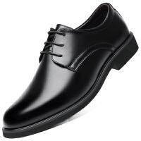 波图蕾斯皮鞋男鞋商务休闲鞋新品英伦低帮圆头系带正装鞋子