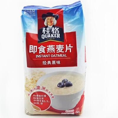 桂格(QUAKER) 即食燕麦片 经典原味 700g 纯燕麦片 粗粮谷物