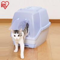 爱丽思IRIS直销 防臭猫砂盆 宠物厕所 全封闭TIO-530F蓝