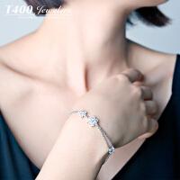 T400S925银日韩国时尚简约锆石手链女款百搭首饰品可爱如你 3661