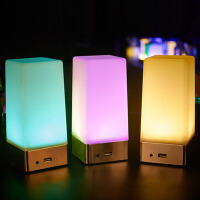 酒吧led充电吧台灯 创意小夜灯夜店服务灯充电宝桌灯按钮开关