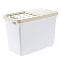 日式小清新家用密封装米桶储米箱米缸厨房加厚面粉桶米面收纳箱收纳用品收纳盒厨房用品储物盒