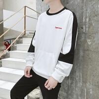 秋装卫衣男外套潮流日系男装大码套头衫青少年学生个性拼接外衣服DJ-A610卫衣