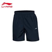 李宁运动短裤男士训练系列训练裤夏季梭织运动裤AKSL077