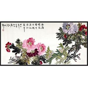 中国书法家协会会员 唐玉润《牡丹》JXFT280