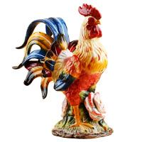 陶瓷公鸡摆设打鸣公鸡工艺装饰生肖年吉祥物新居摆件礼物乔迁