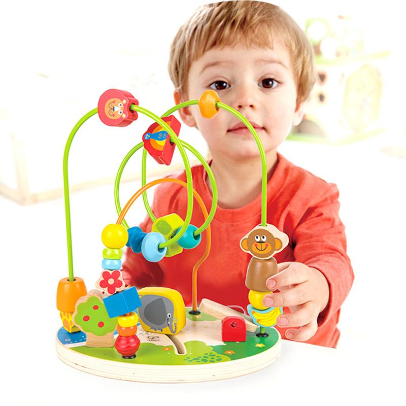 【年货节】Hape森林游乐园1-6岁串珠绕珠儿童早教启蒙玩具婴幼玩具木制玩具E8340【德国Hape官方旗舰店】