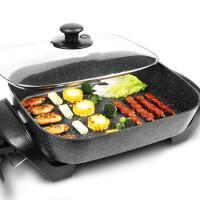 电烧烤炉家用无烟不粘烤肉锅涮烤火锅烤鱼炉电热锅电烤盘