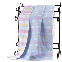 商场同款婴儿浴巾六层棉纱布新生儿童蘑菇盖毯宝宝加大厚毛巾被超柔吸水