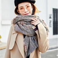 秋冬毛线韩版围巾女冬季百搭羊绒加厚两用披肩学生少女软妹冬天款