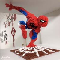 兼容乐高蜘蛛侠美国队长小颗粒积木拼装益智DIY玩具成人儿童礼物