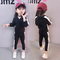 女童套装春装2018新款3儿童4春秋6岁5男宝宝洋气纯棉运动两件套潮 春游.套装