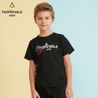 【2件3折折后到手价59.4】马克华菲童装男童T恤19春夏新款儿童纯棉短袖上衣字母印花洋气潮