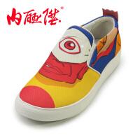 男鞋春秋时尚潮流单鞋国漫大鱼海棠男板鞋老北京布鞋DY6204