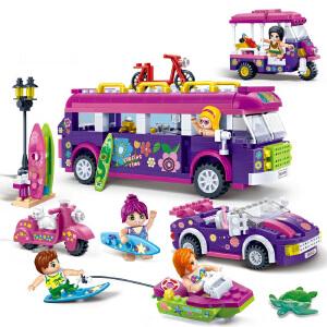 【当当自营】邦宝媚力沙滩之欢乐旅途601粒益智小颗粒拼装积木玩具5岁以上男孩女孩儿童礼物6137