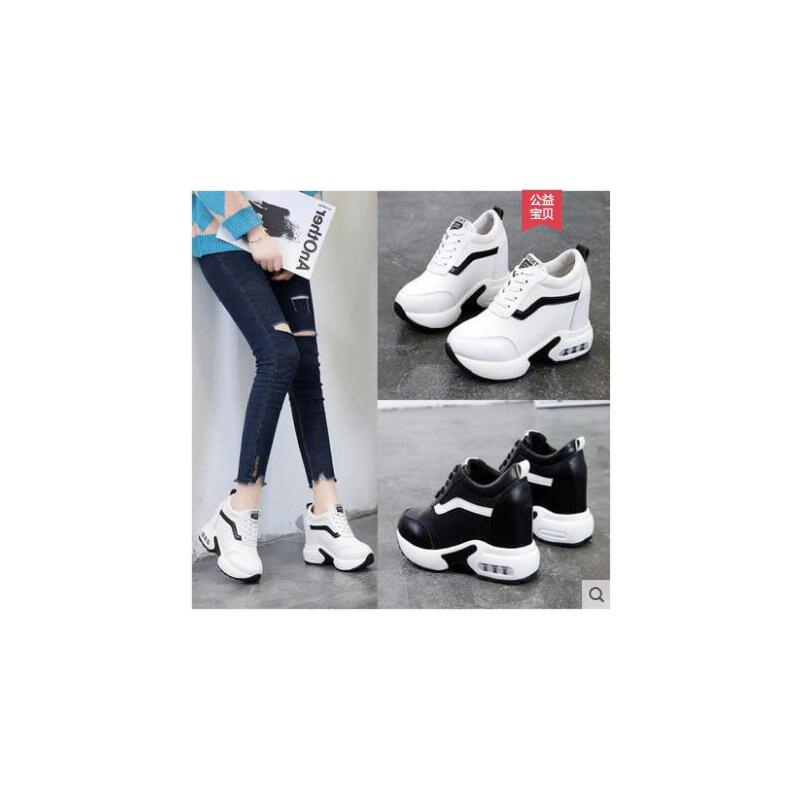 内增高女鞋运动鞋春季新款韩版百搭松糕厚底网红休闲鞋子