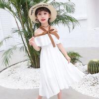 女童吊带背心裙子 2017夏季新款韩版儿童沙滩裙中大童女孩雪纺裙