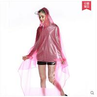 韩版成人电动车摩托车单人大雨衣雨披 水晶大帽沿无镜套