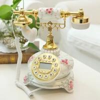 优贝家 欧式宫廷仿古电话机摆件 古董家居装饰品模型展示工艺