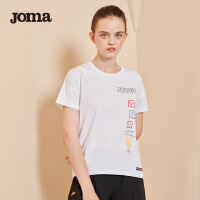 JOMA荷马女士短袖T恤夏季新款圆领百搭时尚舒适休闲运动T恤上衣女满200减40