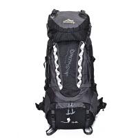 登山包80l防水户外包男女大容量运动双肩背包露营帐篷旅游行徒步 黑色 A 80升