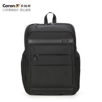 卡拉羊电脑包新款双肩包男女商务旅行背包14寸电脑背包大学生书包CS5741