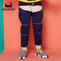 【双十二3件2折:45】巴拉巴拉旗下 巴帝巴帝男童运动加绒长裤2018冬新款
