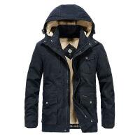 吉普JEEP冬装中长款可脱卸内胆加绒加厚保暖棉衣男外套1507纯棉