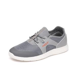 红蜻蜓男鞋2017冬季新款正品潮流年轻透气休闲鞋子男布鞋运动板鞋