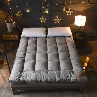 夏天床褥子单人学生宿舍床垫子加厚1.2米打地铺睡垫双人折叠防滑