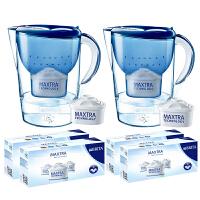 碧然德(Brita)净水器净水壶滤水壶滤水杯(Marella3.5L套装) 2壶14芯 蓝色系