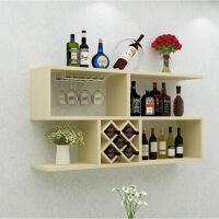 酒架置物架餐厅墙壁红酒架实木家用客厅简约酒格墙上挂壁挂式酒柜