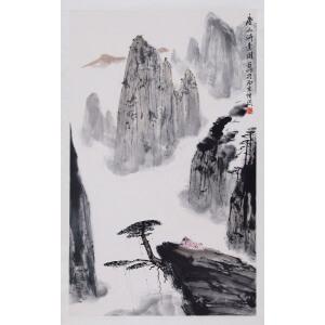 著名画家   亚明《唐人诗意图》