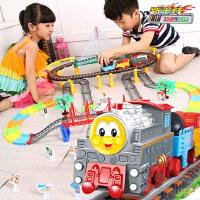 儿童超大号电动托马斯轨道小火车头套装汽车男孩玩具托马斯小火车