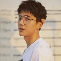 2018新品刘昊然孟子坤同款耳环平光眼镜框架男女潮流大框太阳镜墨镜