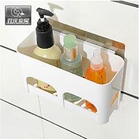 双庆吸盘置物架卫生间厨房置物架收纳壁挂浴室塑料置物架卫生间置物架壁挂浴室沥水SQ8523