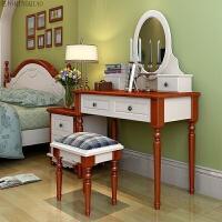 小户型卧室欧式家具梳妆台影楼化妆台简约板式地中海梳妆台 组装