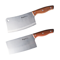 拜格(BAYCO) 2件套菜刀单刀双刀切片刀砍骨刀家用不锈钢厨师刀切菜刀水果刀厨房刀具套装料理刀