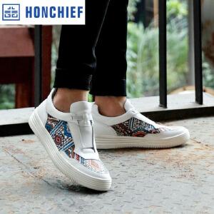 HONCHIEF 红蜻蜓旗下2017春季新款潮流板鞋韩版拼色休闲鞋男单鞋