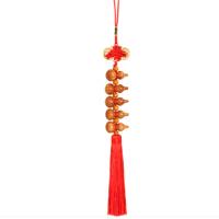 中国结桃木葫芦车挂件平安扣汽车饰品新车赠品装饰送朋友
