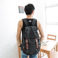 吉野帆布包新款男包包韩版男女双肩包休闲男士背包高中大学生书包学院风复古旅行背包6300