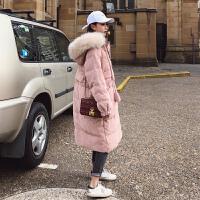 女中长款2018新款宽松bf学生羽绒棉袄ins面包服过膝棉衣外套