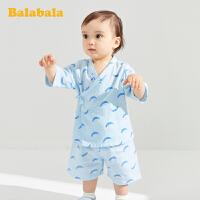 巴拉巴拉宝宝睡衣婴儿短袖套装男童夏装薄款女童2020新款棉ins风