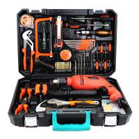 哈博 13mm冲击电钻王者电钻套装五金工具箱 手动工具组合组套