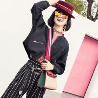 代代花枳撞色凯莉包包2017新款韩版时尚小包彩色宽肩带单肩包女手提斜挎包