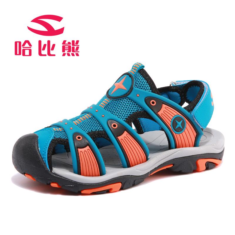 哈比熊童鞋男童凉鞋子夏季新韩版中大童网面时尚休闲宝宝沙滩鞋潮